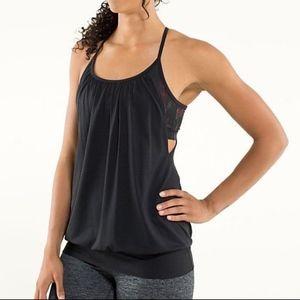 Lululemon Black No Limits Workout Yoga Tank Top